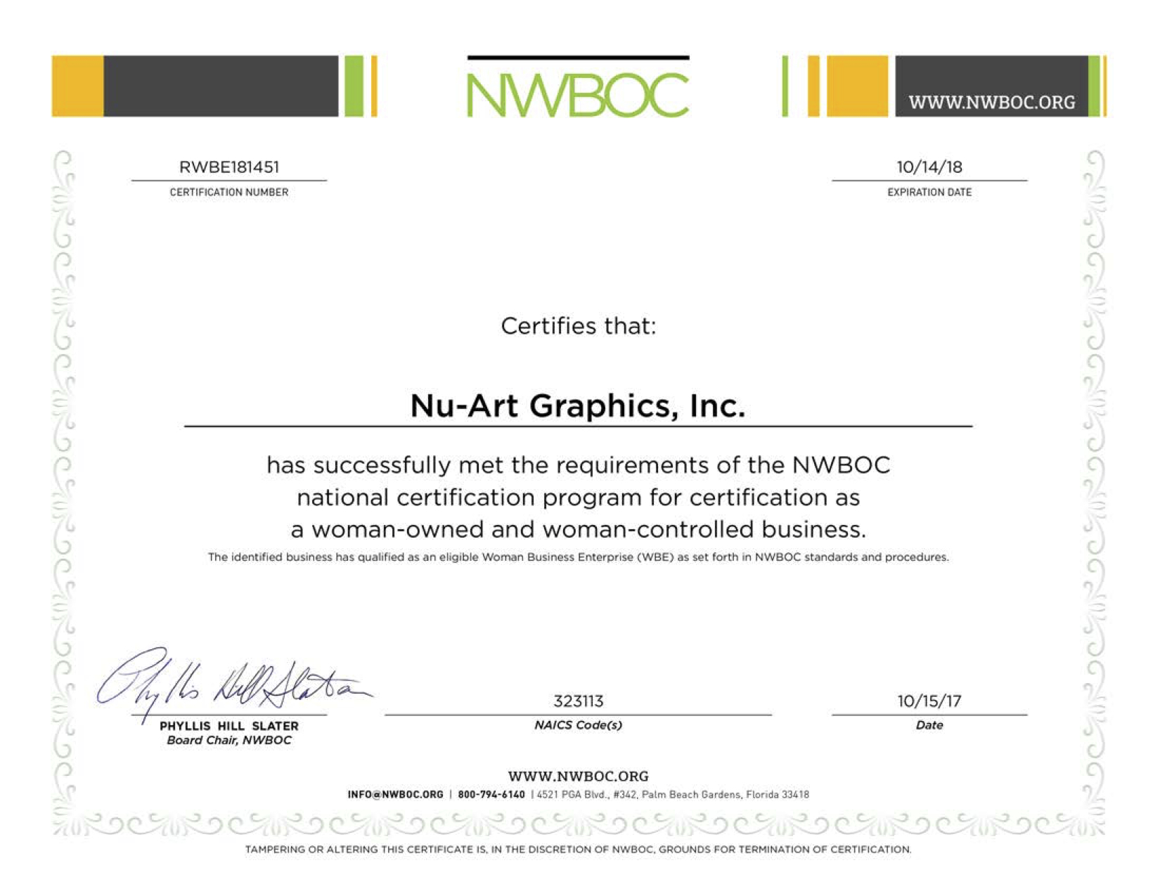 Nu Art Graphics A Certified Woman Owned Business Nu Art Graphics